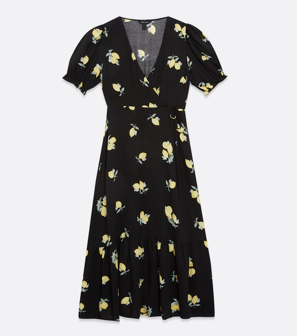 A lemon print dress by New Look.