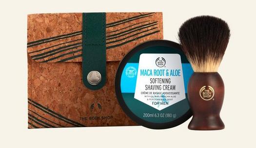 shaving kit from The Body Shop