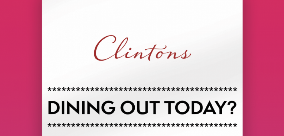 Clintons | 20% off when dining out at Glasgow Fort