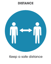 Keep a safe distance icon