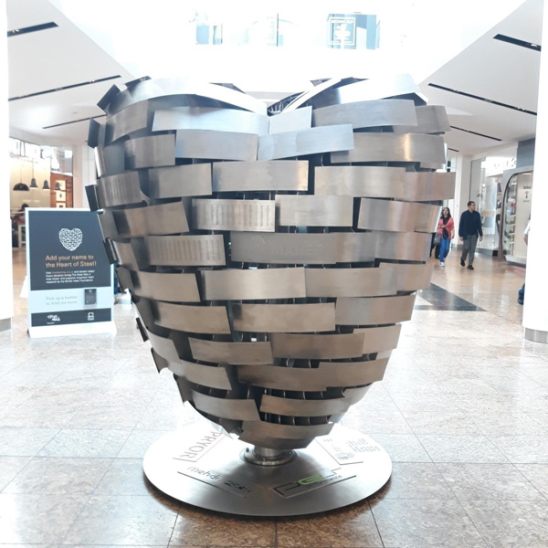 Heart Of Steel At Meadowhall Meadowhall Shopping In Sheffield