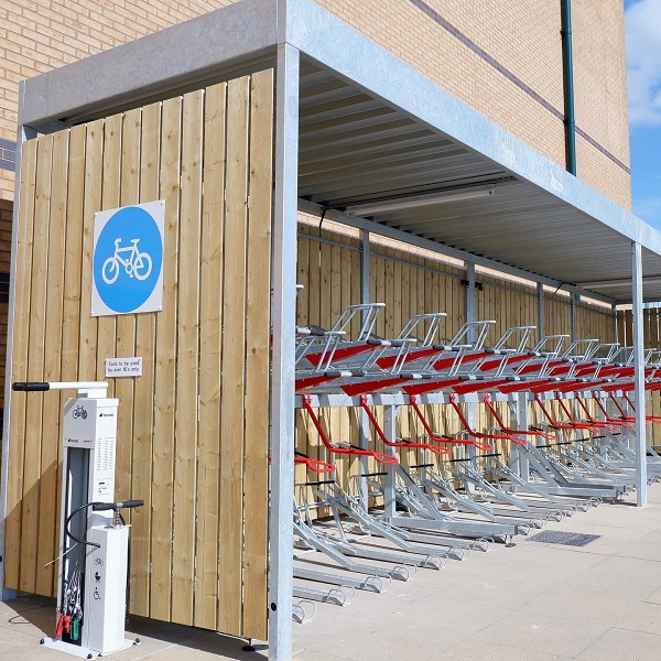 A cycle storage facility.