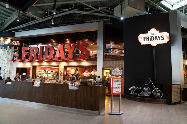 The entrance to TGI Fridays at Meadowhall.