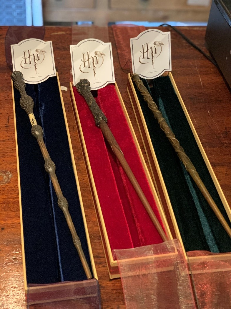 Harry Potter wands from Shop Under The Stairs