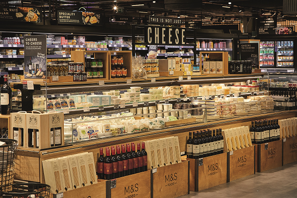 A cheese counter at M&S