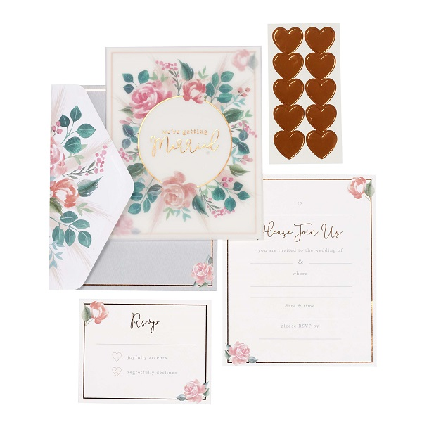 Wedding stationery from Paperchase.