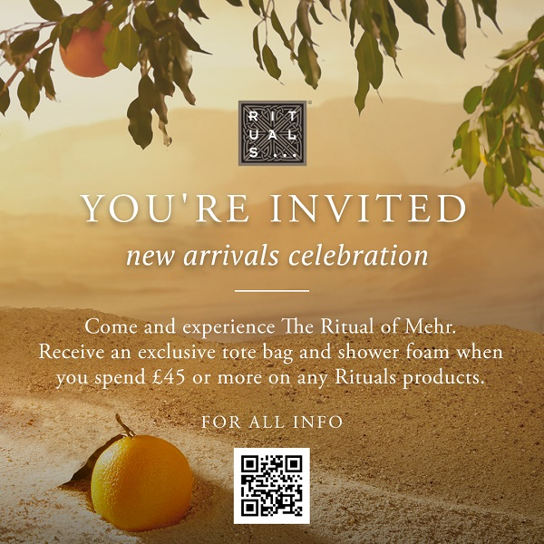 An invitation to the rituals event described above.