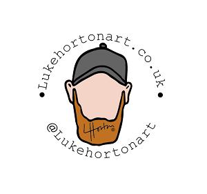 Luke horn art logo.