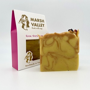A handmade soap from Marsh Valley.