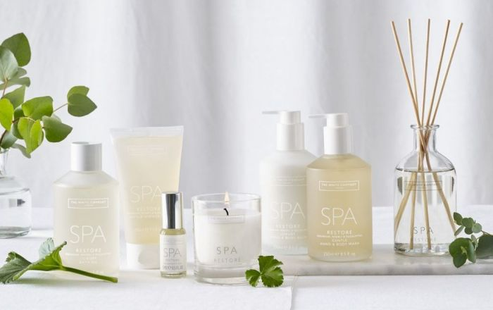 Range of spa products from the white company.
