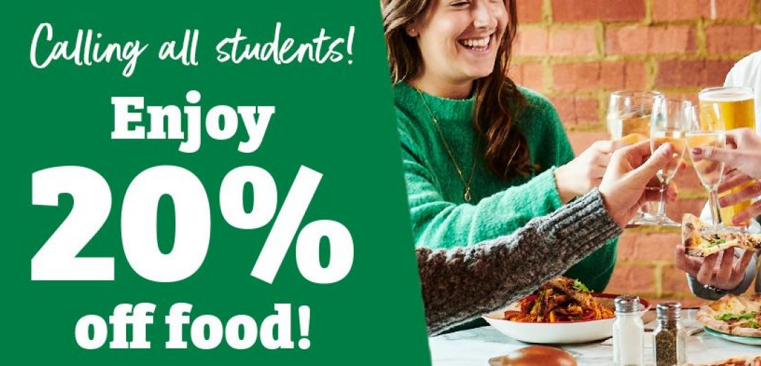 Frankie & Bennys   20% Student Discount