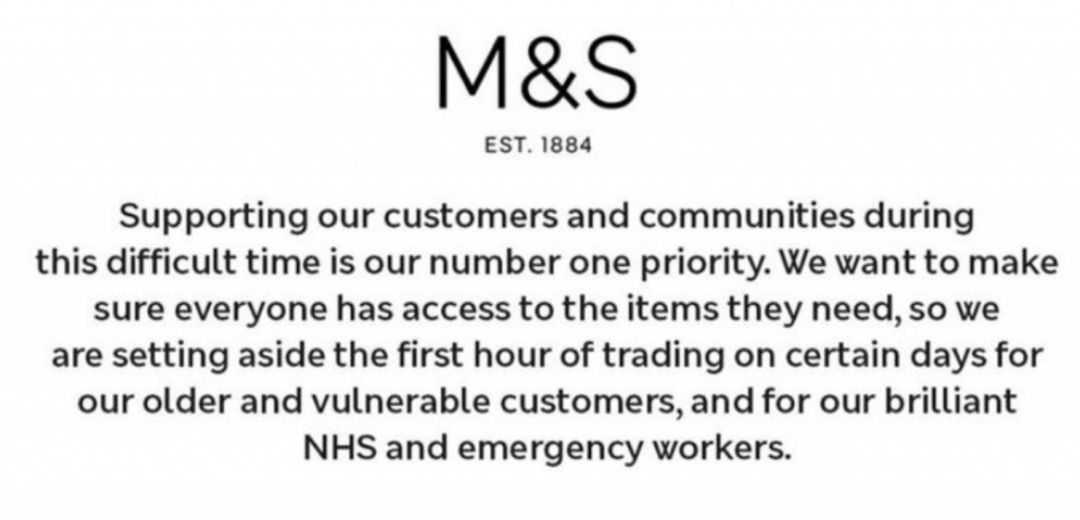 M&S | NHS And Emergency Service Workers