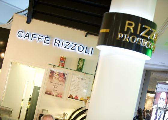 Caffe Rizzoli Sign
