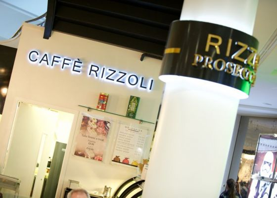 Caffe Rizzoli Sign