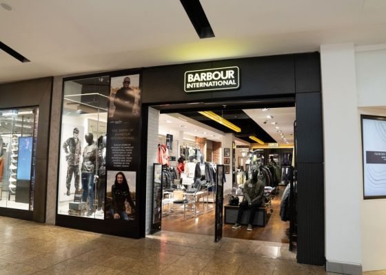 store front of Barbour