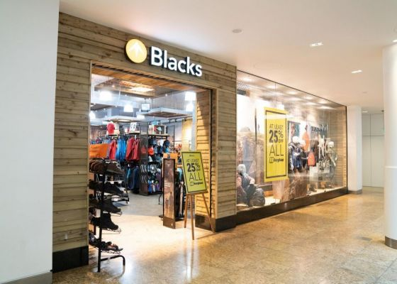blacks store front in Meadowhall