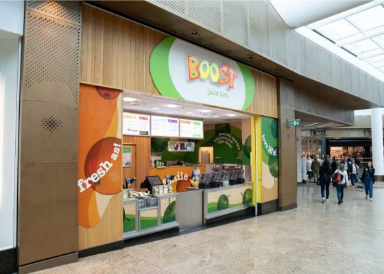 store front of Boost Meadowhall