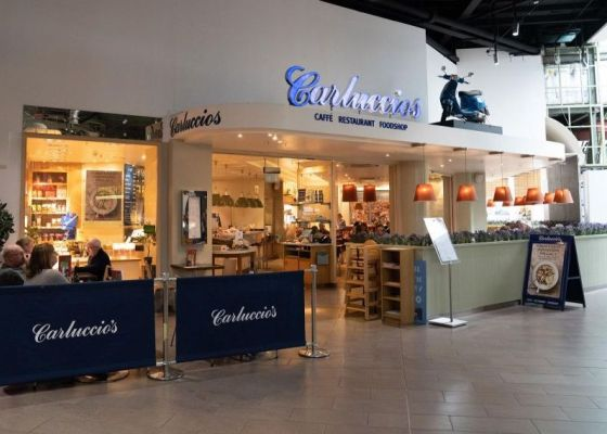Carluccio's Restaurant Front at Meadowhall