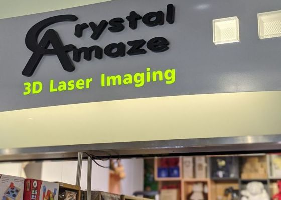 Crystal Amaze Store Front, Sheffield Meadowhall. The Lanes