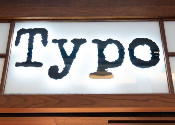 Typo sign