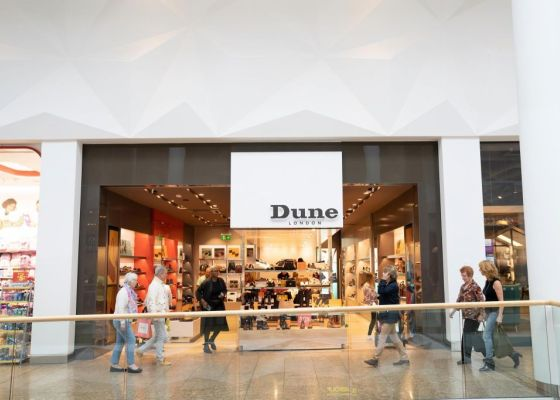 Dune London Store Front in Meadowhall