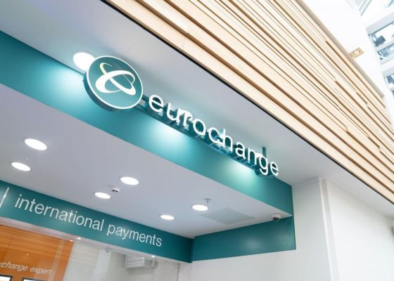 image of the store front of Eurochange in Meadowhall.