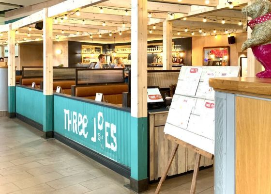 Three Joes Sourdough Pizza, Meadowhall.