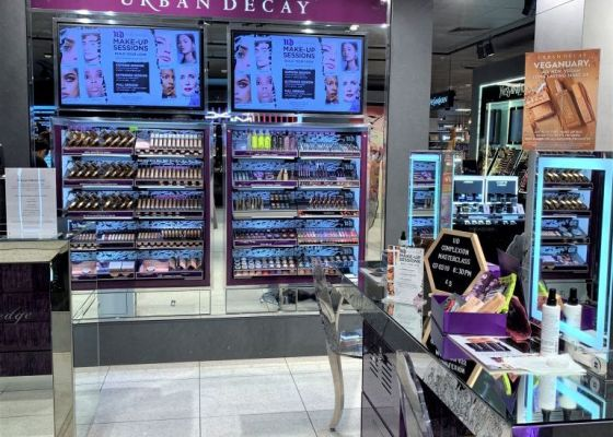 Urban Decay stand.