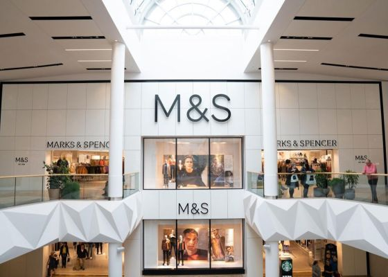 exterior view of M&S in Meadowhall