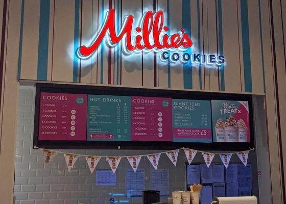 Millie's Cookies Unit Front