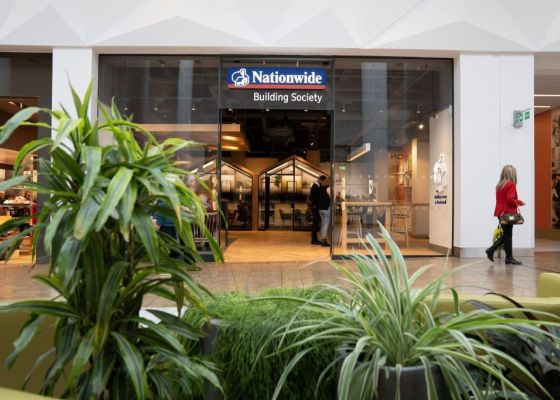 Exterior of Nationwide, Meadowhall.