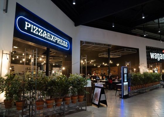 Pizza Express Restaurant in Meadowhall Shopping Centre.