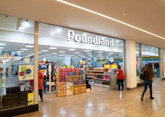 Poundland Store Front in Meadowhall Shopping Centre.