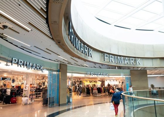 Primark Store Entrance in Meadowhall Shopping Centre