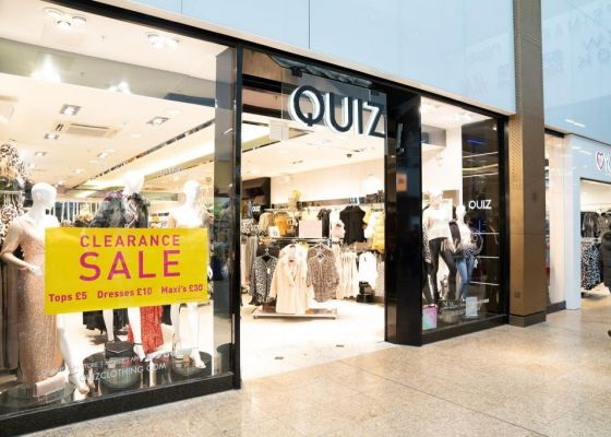 Quiz Store Front in Meadowhall Shopping Centre