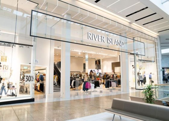 River Island Store Front in Meadowhall.