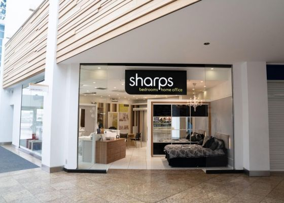 Sharps Bedrooms Store Front in Meadowhall.
