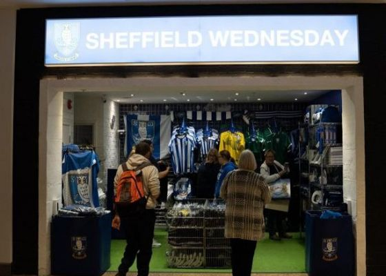 Sheffield Wednesday store in Meadowhall