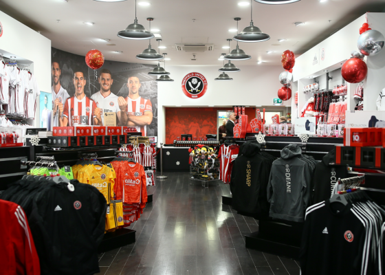 Sheffield United store in Meadowhall