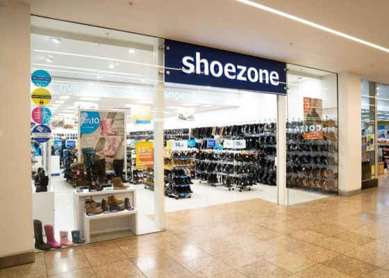 Shoezone store front in Meadowhall.
