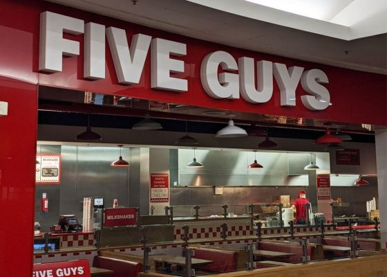 Five Guy Restaurant Exterior