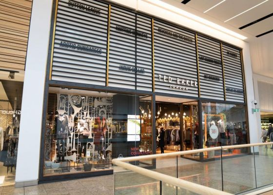 Ted Baker store front in Meadowhall.