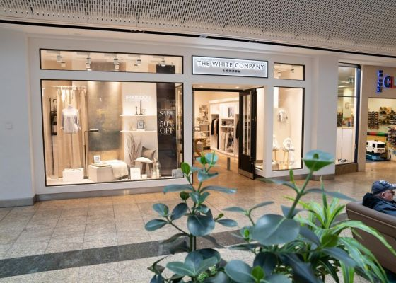 The White Company store front in Meadowhall.