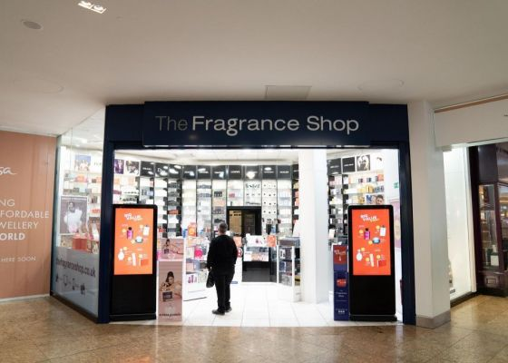 The Fragrance Shop store front.