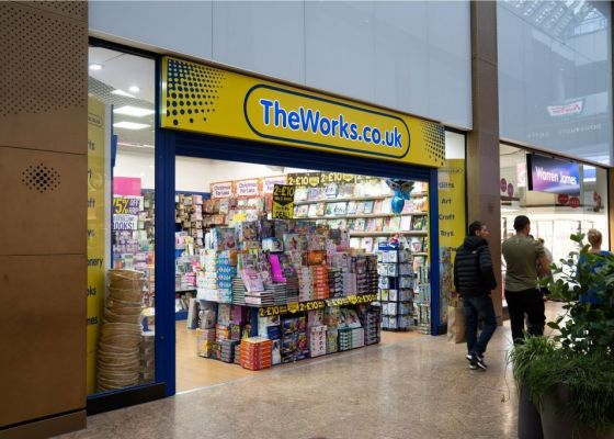 The Works store front in Meadowhall.