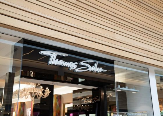 Thomas Sabo store front in Meadowhall.