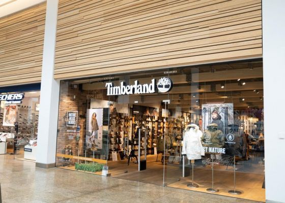 Timberland store front in Meadowhall.