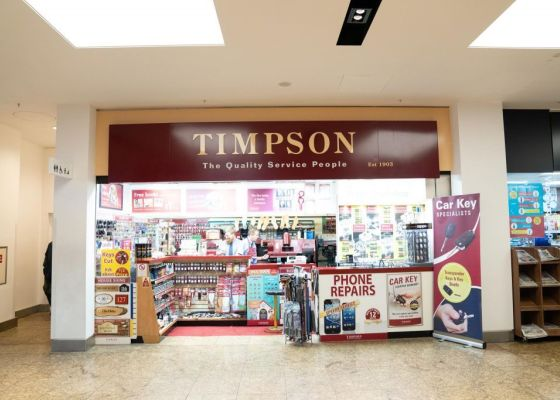 Timpson store front in Meadowhall.