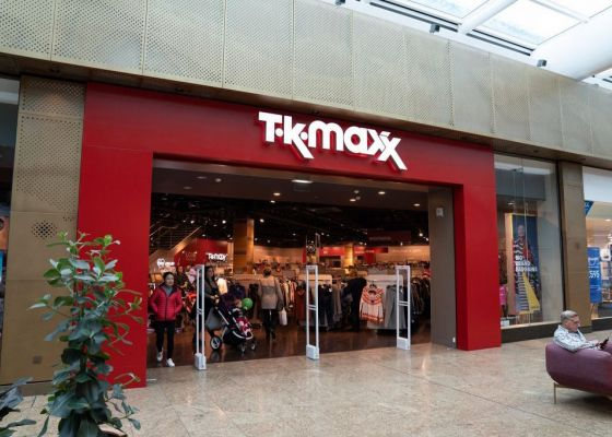 TK Maxx store front in Meadowhall.
