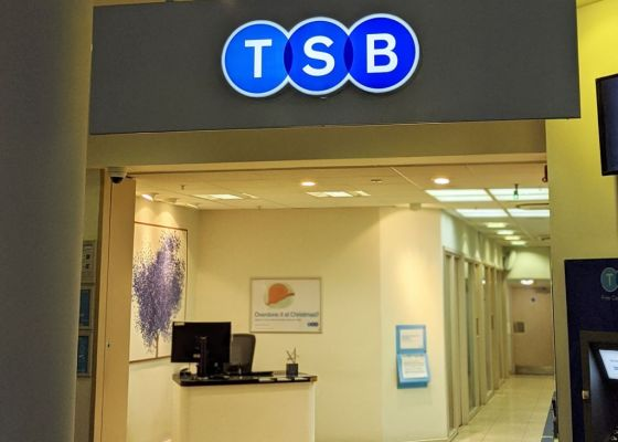 TSB Bank front in Meadowhall.